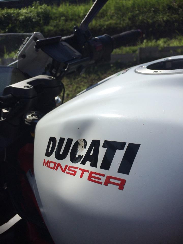 マットホワイト、DUCATI モンスター821